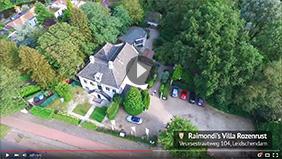 Raimondi's Villa Rozenrust in vogelvlucht